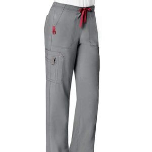 Carhartt Gray and Pink Scrub Pants
